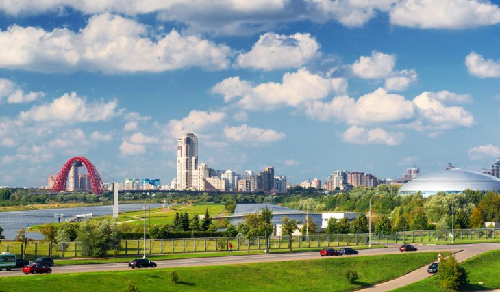 Picturesque region in the north-west of Moscow (Krylatskoye District and others)