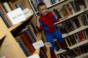 Нашу Библионочь посетил маленький Человек-паук! Сила в знаниях!
